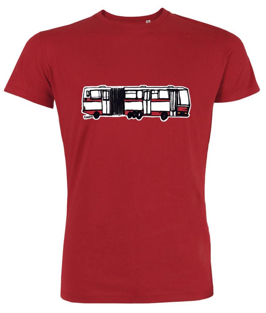 Červené pánské triko s kloubovou Karosou