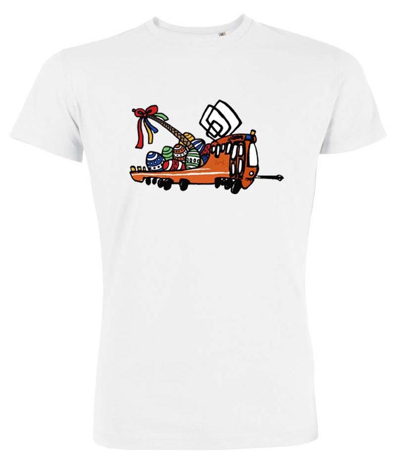 Bílé pánské triko s velikonoční Mazačkou