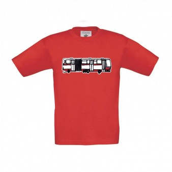 Červené dětské triko s kloubovou Karosou