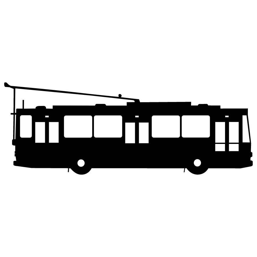 Samolepka trolejbus Škoda 14Tr
