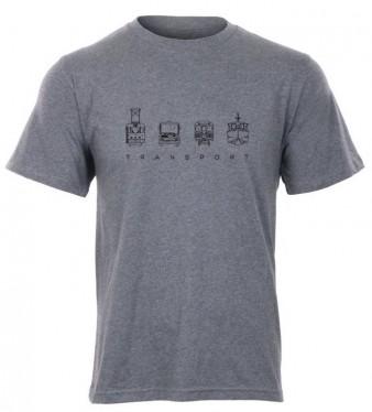 """Šedé pánské charitativní triko """"Klokart"""" (kolekce Transport)"""