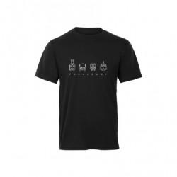 """Černé dětské charitativní triko """"Klokart"""" (kolekce Transport)"""