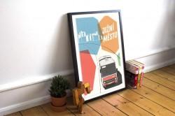 """Plakát """"Karosa na Jižní Město"""""""