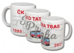 Hrnek k ukončení provozu tramvají ČKD Tatra T6A5 v Praze 1995–2021