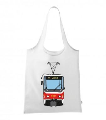 Skládací taška s motivem tramvaje ČKD Tatra T6A5