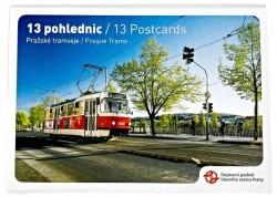 Sada 13 pohlednic pražských tramvají