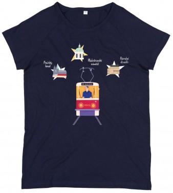 "Charitativní dámské triko ""Klokart"" (modré navy)"