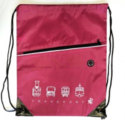 """Růžový charitativní vak """"Klokart"""" (kolekce Transport)"""