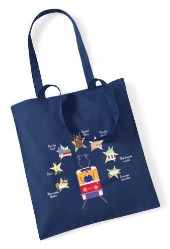 """Charitativní textilní taška """"Klokart"""" (modrá navy)"""