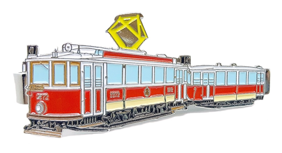 """Kravatová spona historická tramvaj 2272 """"Ringhofferák"""""""